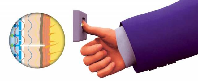 Jak pracuje kapacitní snímač otisků prstů