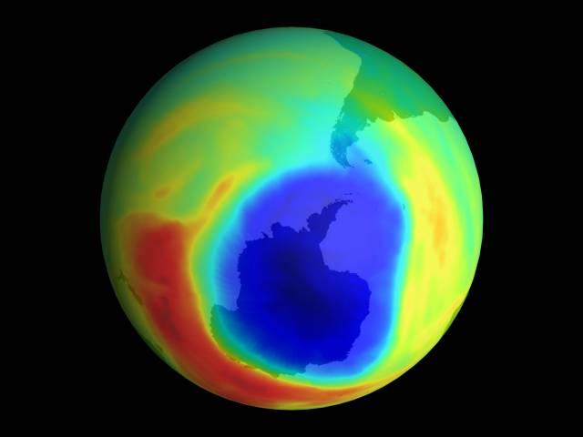 Rekordní velikost ozónové díry