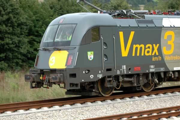 Nejrychlejší elektrická lokomotiva světa