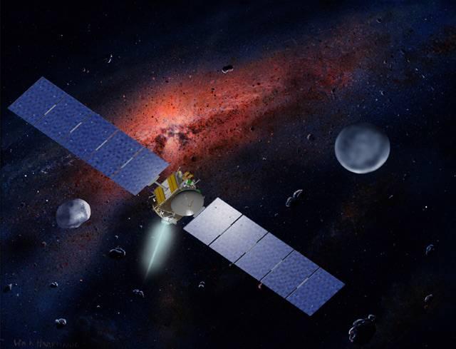 Hned dvě různá tělesa sluneční soustavy jsou cílem kosmické sondy Dawn. Jedná se o vůbec první výpravu do nitra hlavního pásu planetek. Sonda během následujících let navštíví nejdříve jednu z největších planetek sluneční soustavy Vestu a poté trpasličí planetu Ceres.