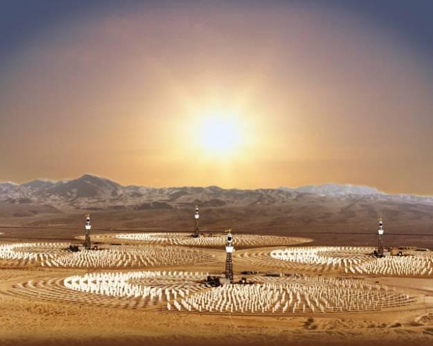 Mohutné generátory barvy rozžhaveného písku odvádějí horký pouštní vzduch kolem dubajského města budoucnosti – Xeritownu. Naopak do jeho poměrně úzkých ulic je vháněn vlhký ochlazovaný mořský vánek.