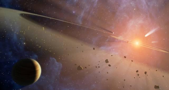 Asteroidy, které dopadají na povrch naší planety, nebývají většinou vítanými návštěvníky. I takový vesmírný vetřelec poměrně malé velikosti dokáže na zemském povrchu napáchat rozsáhlé škody. Představme si ale, že v dějinách Země existovala doba, kdy asteroidy nejen že příliš neuškodily, ale naopak životu napomohly k rozvoji.