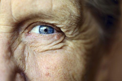 Senior woman's eye
