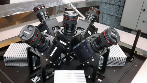 The MASCARA (Multi-site All-Sky CAmeRA) station at ESO's La Silla Observatory in Chile achieved first light in July 2017. This new facility will seek out transiting exoplanets as they pass in front of their bright parent stars and create a catalogue of targets for future exoplanet characterisation observations. This view shows the five cameras the form the MASCARA system. Together the five wide-angle lenses allow MASCARA to image almost the entire visible sky in one go.