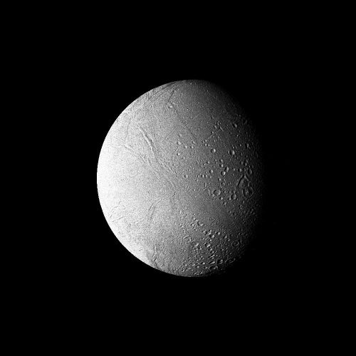 Saturn - High-resolution Filtered Image of Enceladus
