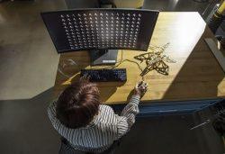 Židle navržená pomocí umělé inteligence