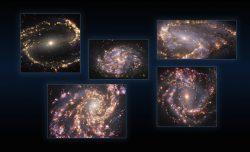 Galaktický ohňostroj: nové záběry ESO odhalují struktury v blízkých galaxiích