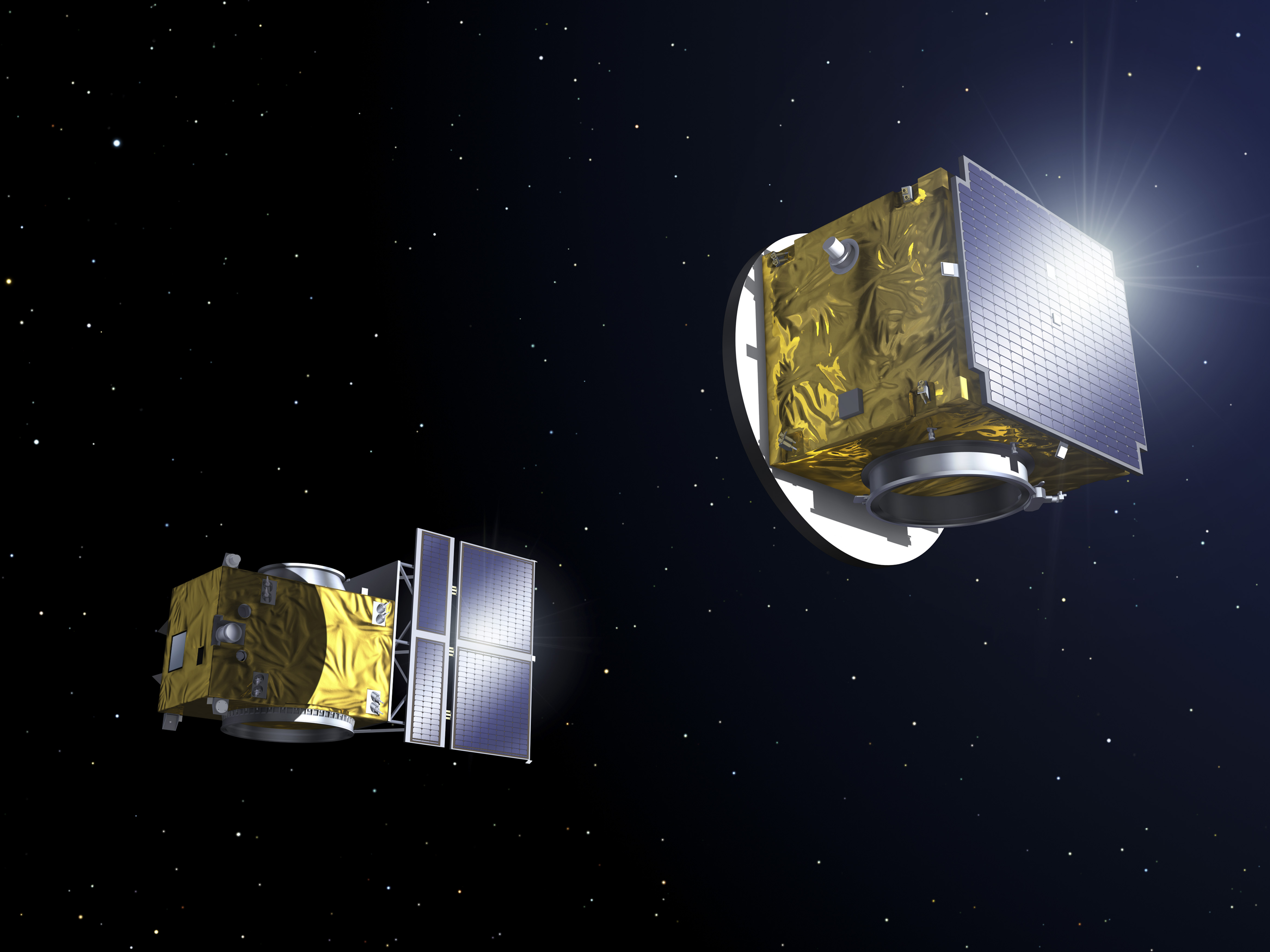 Dvě družice Proba-3 díky těsné spolupráci na oběžné dráze mají šanci otevřít úplně nový pohled na zdroj záření pocházející z největšího objektu ve Sluneční soustavě. Na sluneční atmosféru, která zasahuje milióny kilometru do vesmíru