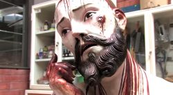 V Mexiku objevena socha s lidskými zuby