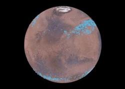 Mars ukrývá pásy ledu
