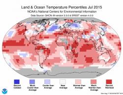 Červenec byl nejteplejším měsícem v historii měření