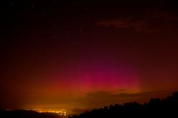Nebe nad Českem rozzářila polární záře